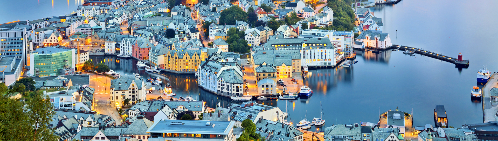 Set amidst the marvelous fjords - Alesund is a highlight of your Norway tour