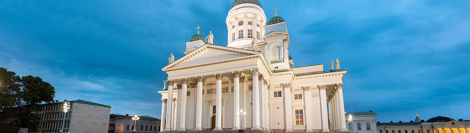 See the most famous Helsinki attractions, including the Helsinki Cathedral, on your Finland tour