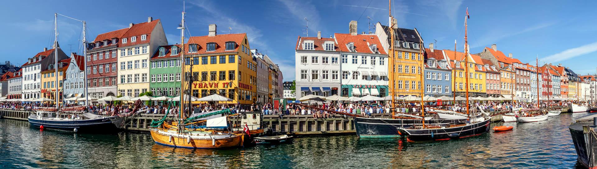 Nyhavn harbor is the most famous attraction in the capital of Denmark - Copenhagen