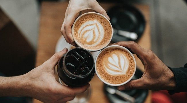Three  cups of delicious coffee