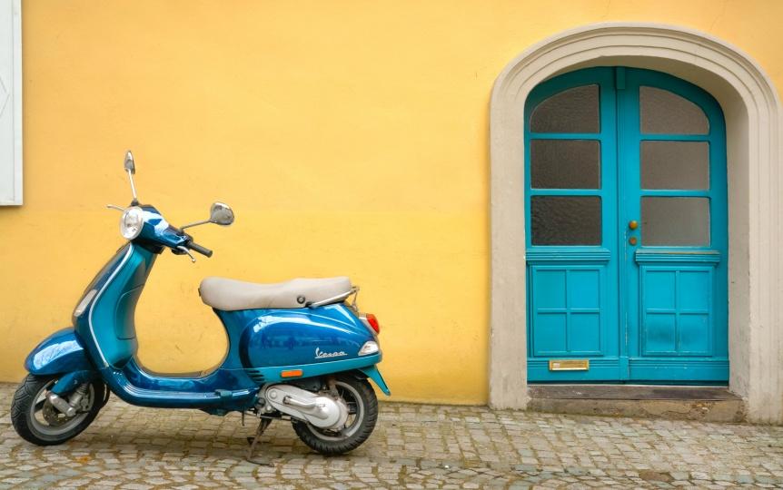Vespa Scooter Italy