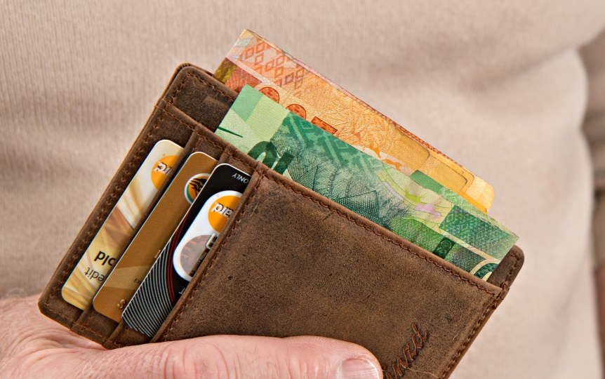 Wallet with money