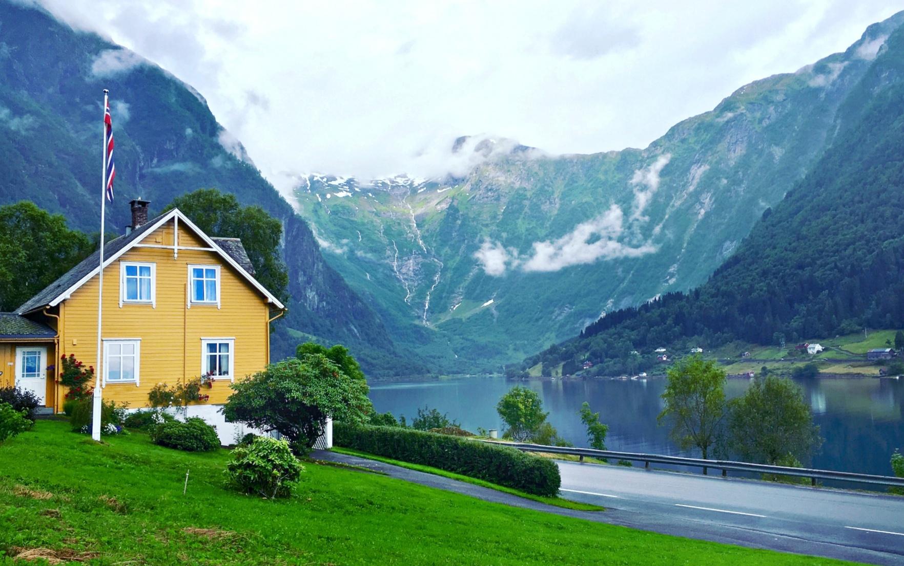 Norway House near the lake shore