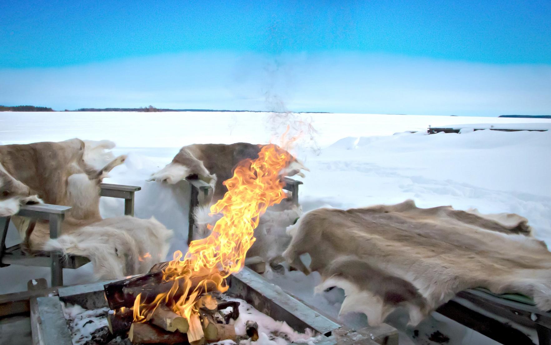 Sami People Bonfire