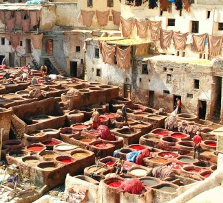 Tanneries in Fes, Morocco