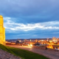 Gediminas Castle - the most famous landmark of Vilnius
