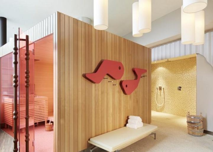 Sauna at 25hours Hotel Zürich West