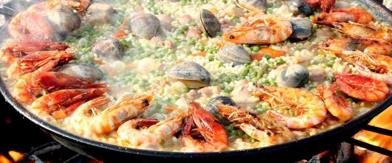 Valencian paella, Spain